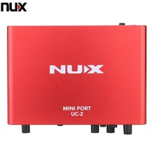 NUX UC-2 Mini Port USB XLR 6.35mm Input Output Audio Interface for Mic MIDI Instrument Recording Playback(China (Mainland))