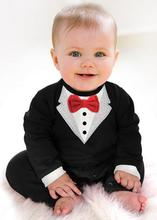 2015 new baby clothing rompers baby boys clothes exclusive black gentleman bow one piece junpsuit