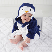 children's clothing boys girls Robes new winter spring autumn cartoon baby bathrobe Sleepwear & Robe winter cute Penguin