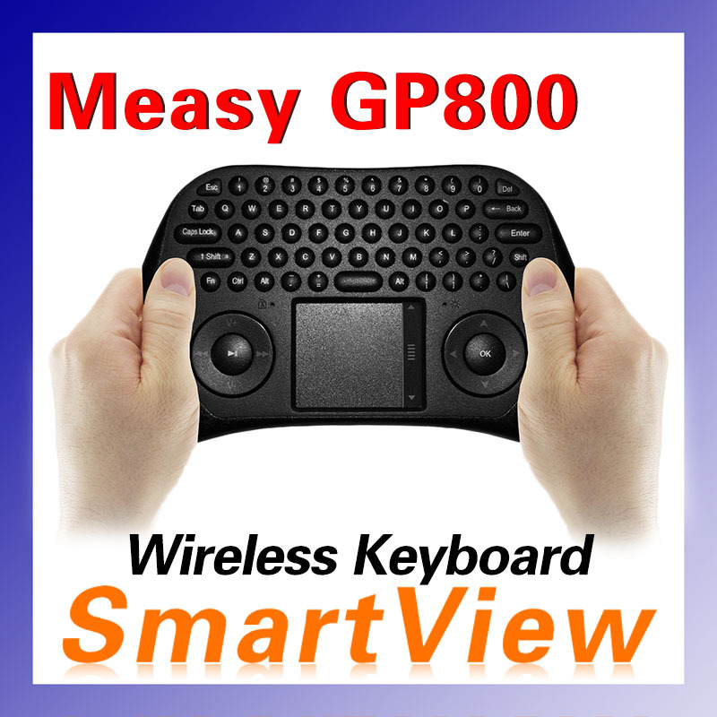 Гаджет  Original Measy GP800 Keyboard Tochpad Air smart mouse QWERY Touchpad Handheld Keyboard with 79 Keys for TV BOX Laptop Mini PC None Компьютер & сеть