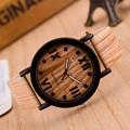 Relogio Women Watches Fashion Quartz Leather Watch Female Roman Numerals Imitate Wood Analog Quartz Clocks reloj
