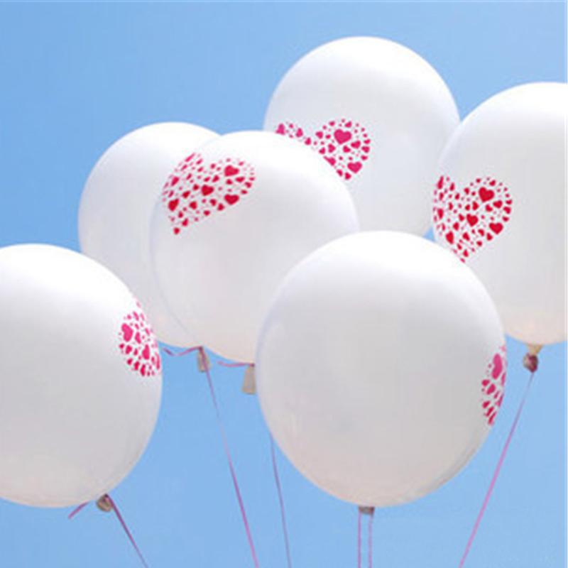 heart Balloons 100pcs/Lot Metallic Latex Helium Inflatable Thickening Balloons Wedding Decorations Ballon love Ball(China (Mainland))