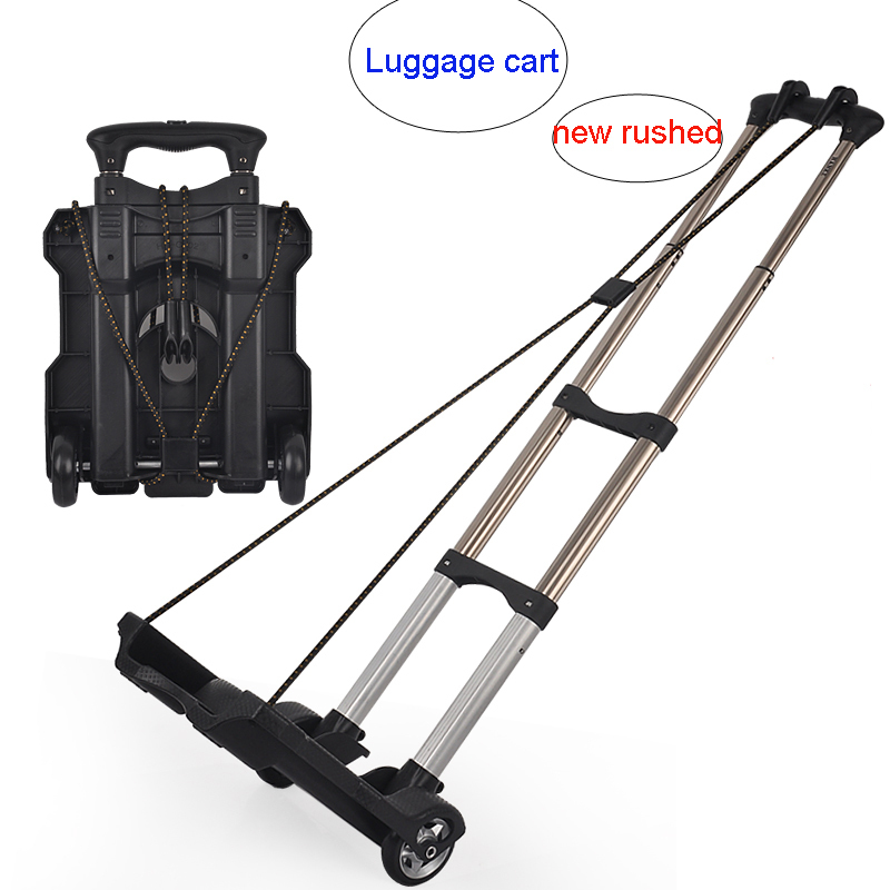 New arrived Daily use at home small portable shopping luggage cart trolley car retractable folding bike trailer handcart(China (Mainland))