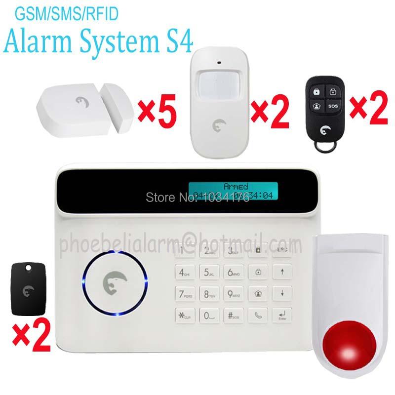 Small flat burglar SMS notification gsm alarm kit driving burglar away security system(China (Mainland))
