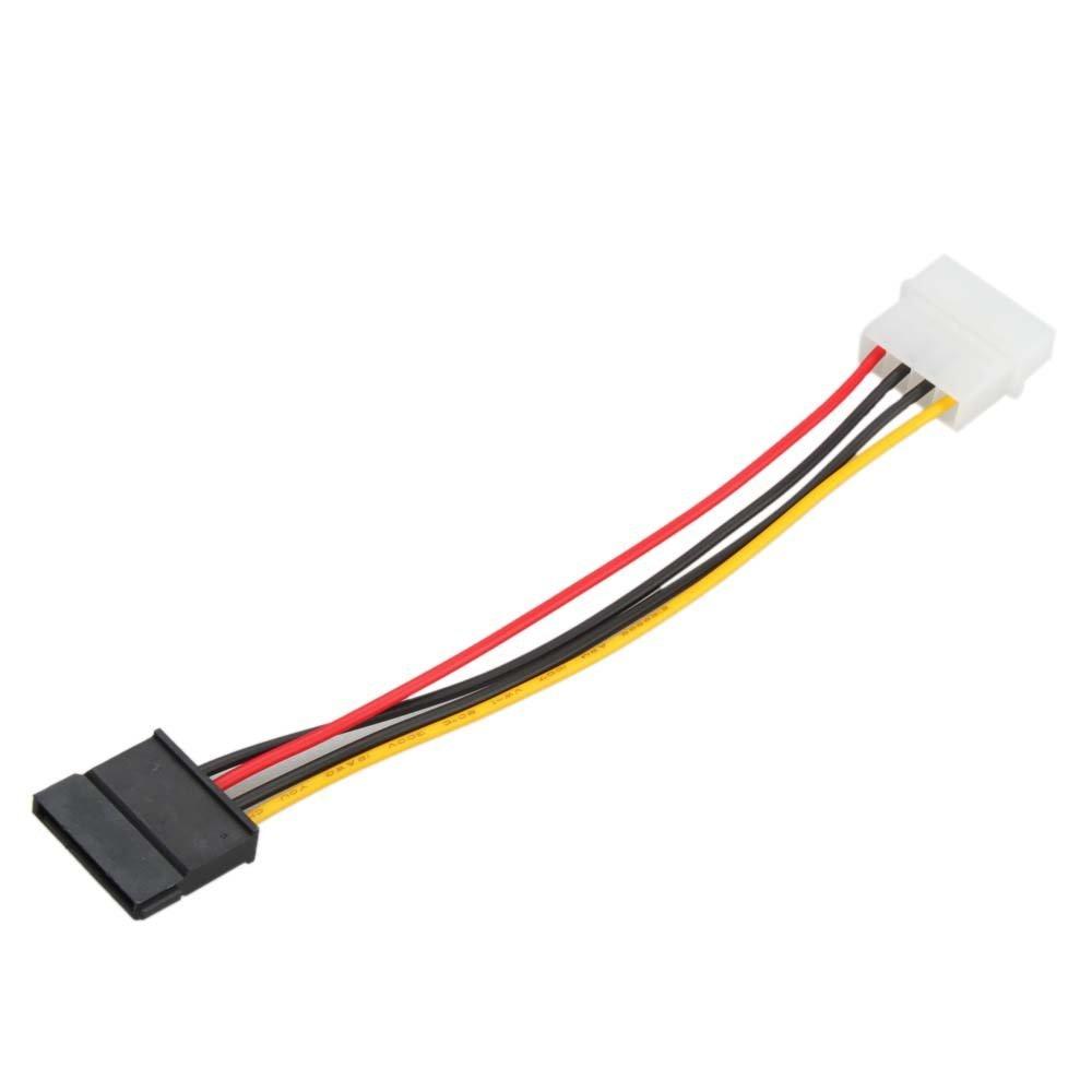 USA Delivery New 4-Pin IDE to 15-Pin SATA HDD Hard Disk Power Adapter Converter Cable(China (Mainland))