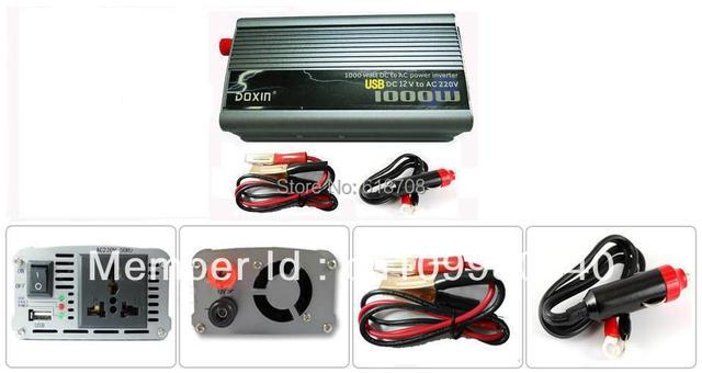 NEW 1000W Car 12v DC in 220v AC out Power Inverter USB Best