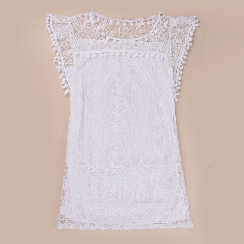 Robe de plage blanche grande taille