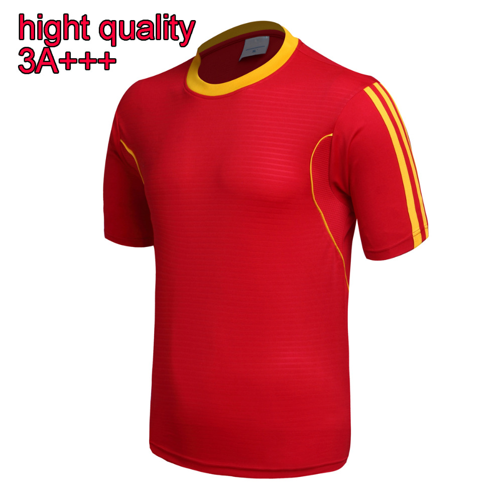 2016 high quality man soccer jerseys 3A+++ football shirt red white for man and women and kids(China (Mainland))