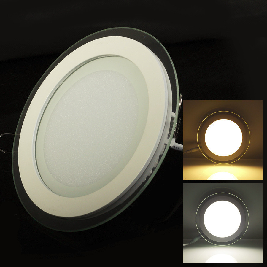 W Dimmable Led Panel Light With Glass
