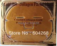 Gold Bio-Collagen Facial Mask Face Mask Crystal Gold Powder Collagen Facial Mask Moisturizing Anti-aging 5/lot
