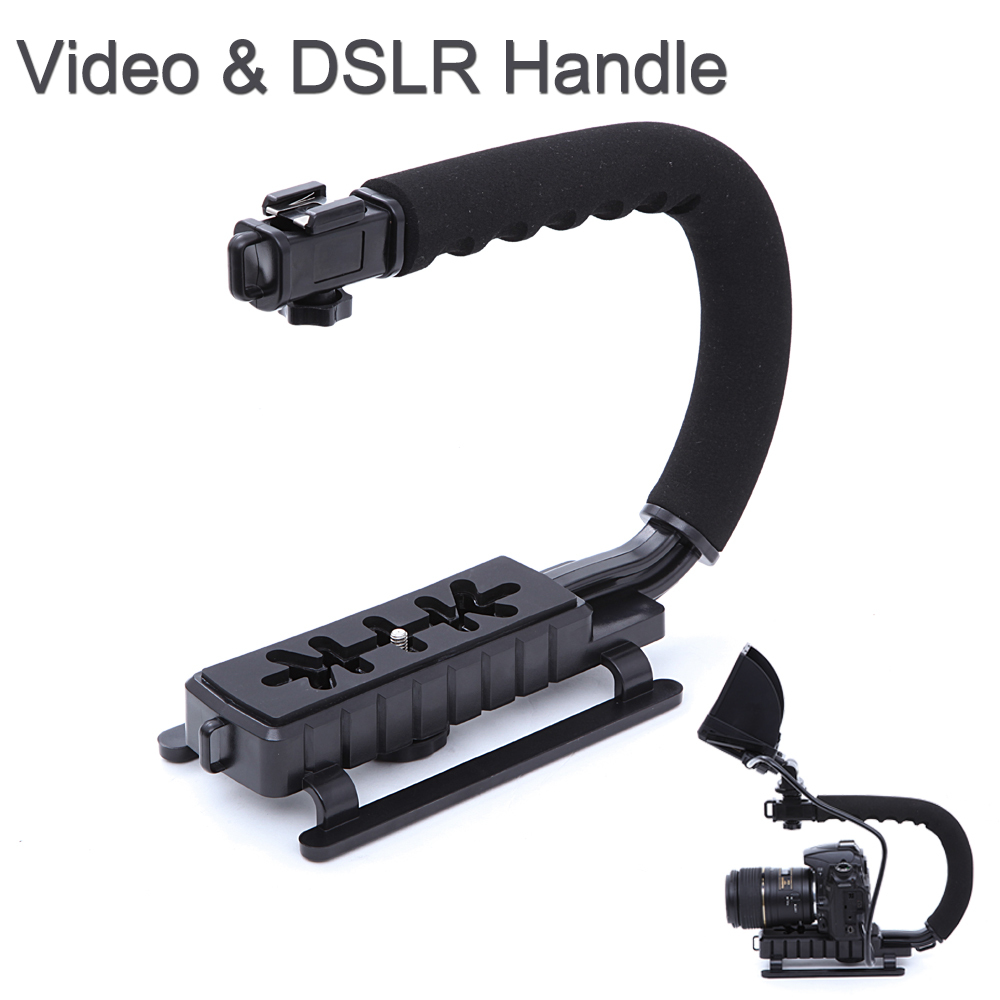 C Shape flash Bracket holder Video Handle Handheld Stabilizer Grip DSLR SLR Camera Phone Gopro AEE Mini DV Camcorder - Digital Bethlehem-Since 2012 store