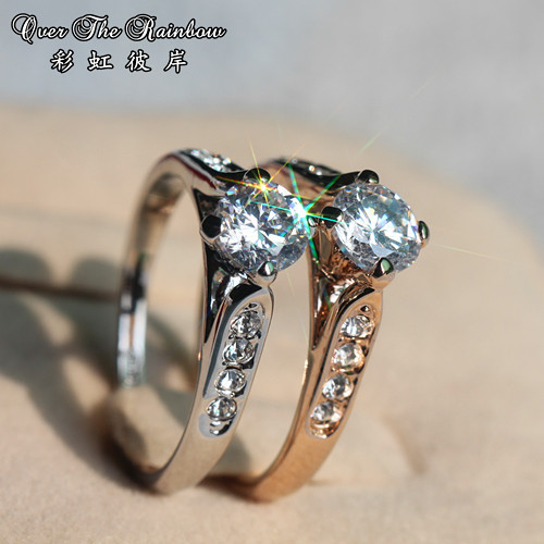 50 female ring vintage married zircon ring hearts and arrows