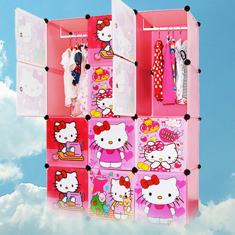 children simple wardrobe cabinet containing combination of plastic resin manufacturers on behalf of a folding closet(China (Mainland))