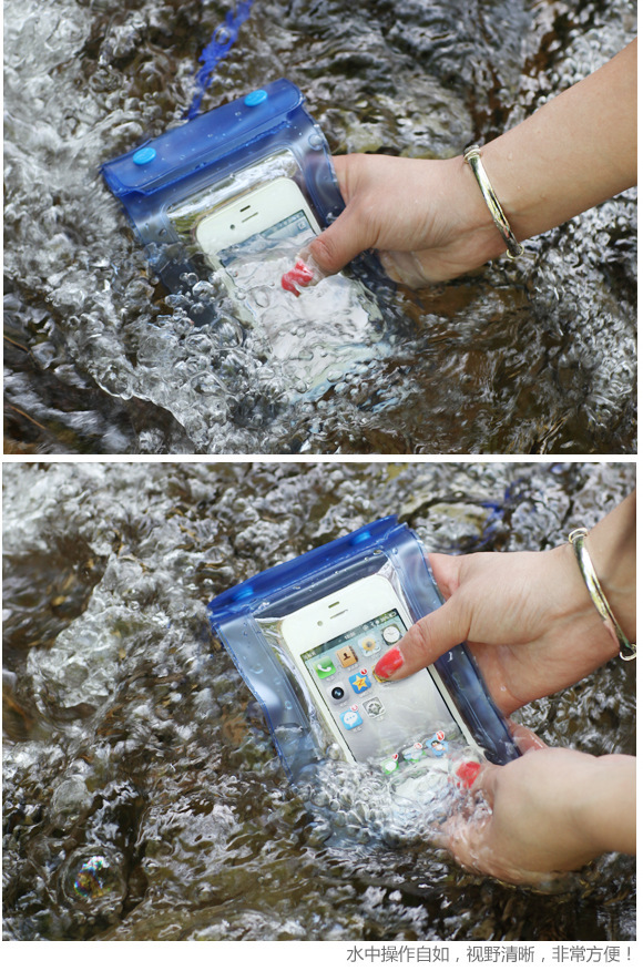 waterproof phone bag with retail free opp bag high quality the very cheapest price orange green red blue color free shipping(China (Mainland))