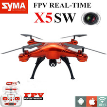 Quadcopter Dron SYMA X5SW WIFI RC Drone Kvadrokopter with FPV Camera Headless 6-Axis Real Time RC Helicopter Toys As Gift(China (Mainland))