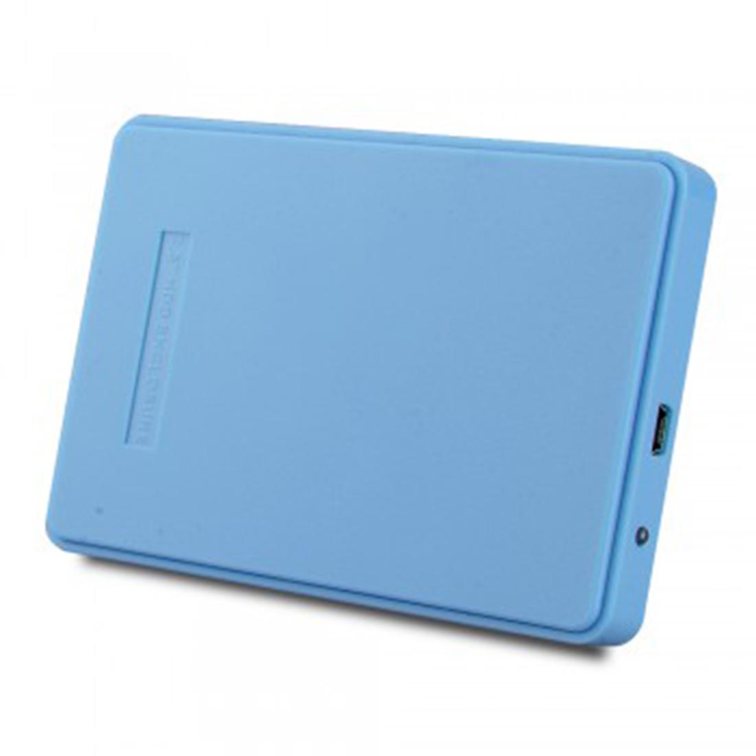 2.5 Inch 2TB Portable USB 2.0 SATA Hard Disk Drive Enclosure External Cover Box Blue(China (Mainland))