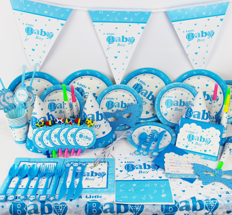 Buy 78pcs baby boy birthday party for Decoration 007