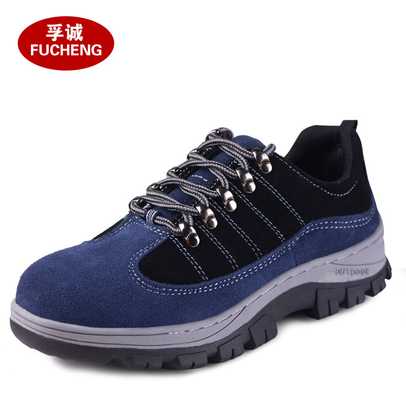 large size men soft leather steel toe cap work safety shoes breathable women puncture proof spring autumn summer tooling boots