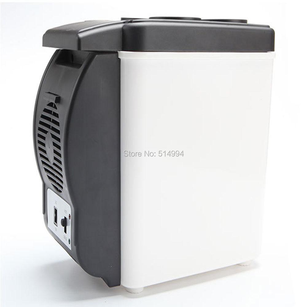 Mini 6.0L Portable 12V Car Refrigerator For Cooling And Heating Fridge Household Dual-use Cooler Bag For Travel and home(China (Mainland))