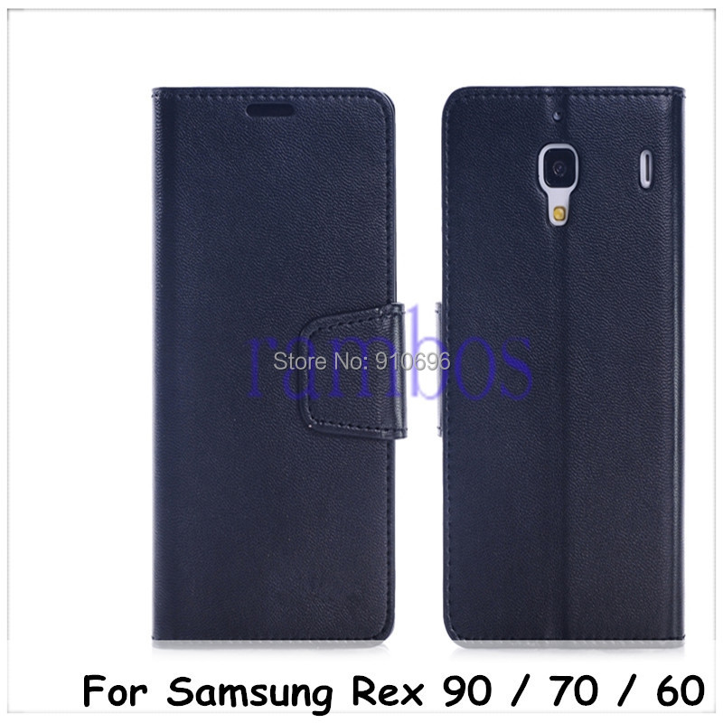 Stand Leather Wallet Case Cover Samsung Rex 90 S5292 / 70 S3800W 3802 60 C3313R 3312 - Rambos Electronic Accessory store