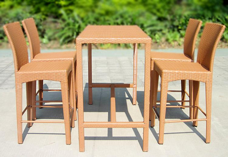 Outdoor furniture Bar table rattan chair bar stool tall tables and chairs Set Rio(China (Mainland))