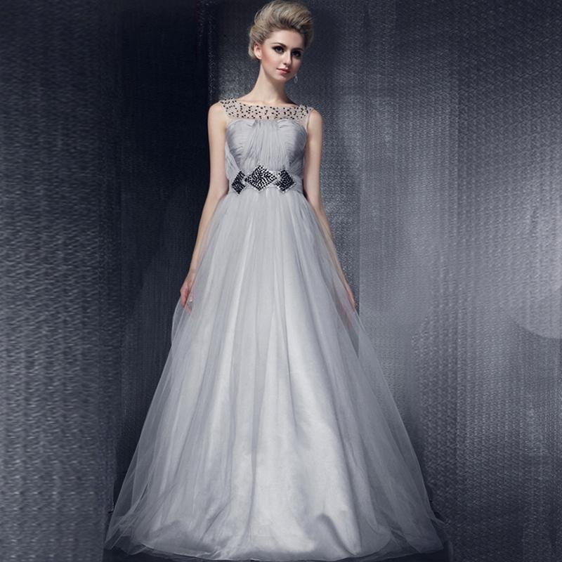 Banquet evening dress 2015 slit neckline evening dress formal dress performance evening dress long design female(China (Mainland))