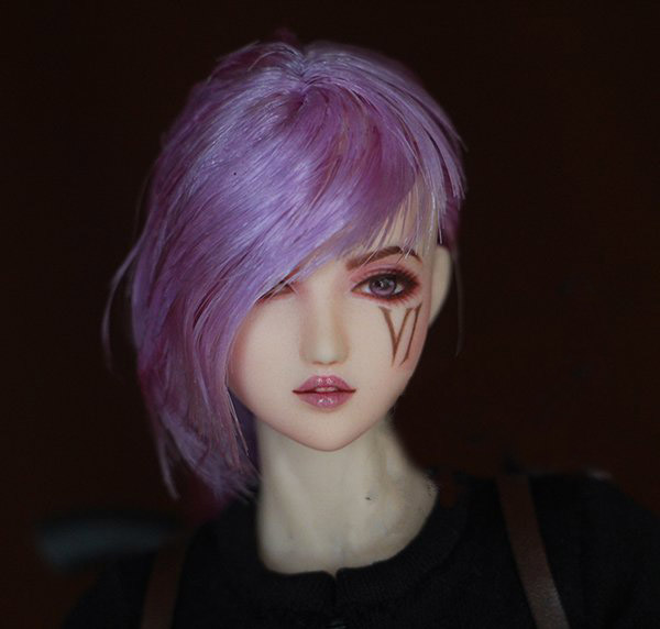 Customized HD102 Sexy 1/6 Obitsu VI girl Head Sculpt + Face Makcup + Hair for Phicen LD UD Jodoll Action Figure DIY(China (Mainland))