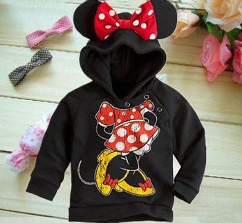2014 Lovely minie Minnie Mouse Kids Toddlers Boys Girls Long Sleeve Hoodie Coat