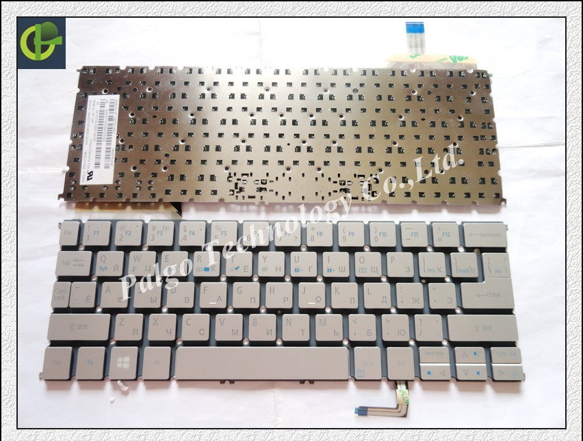 5pc/lot Russian keyboard for Acer Aspire ACER S7 S7-191 S7-192 S7-391 S7-392 RU Silver laptop keyboard<br><br>Aliexpress