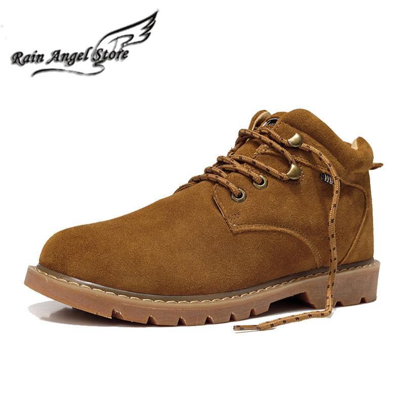 Здесь можно купить  Quality Brand Winter Leather British Men Boots Tooling Boots Men Shoes Snow With Plush botas masculinas  Обувь