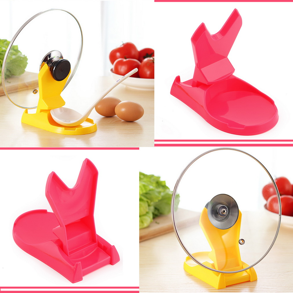Useful Spoon Pot Lid Shelf Cooking Storage Kitchen Decor Tool Stand Holder New cooking tools Worldwide Store(China (Mainland))