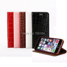 Crocodile Croco Snake Skin Leather Flip Stand Holder Cover Case Wallet Credit Card Slots Cases For Iphone6 6+ plus 6G 30PCS