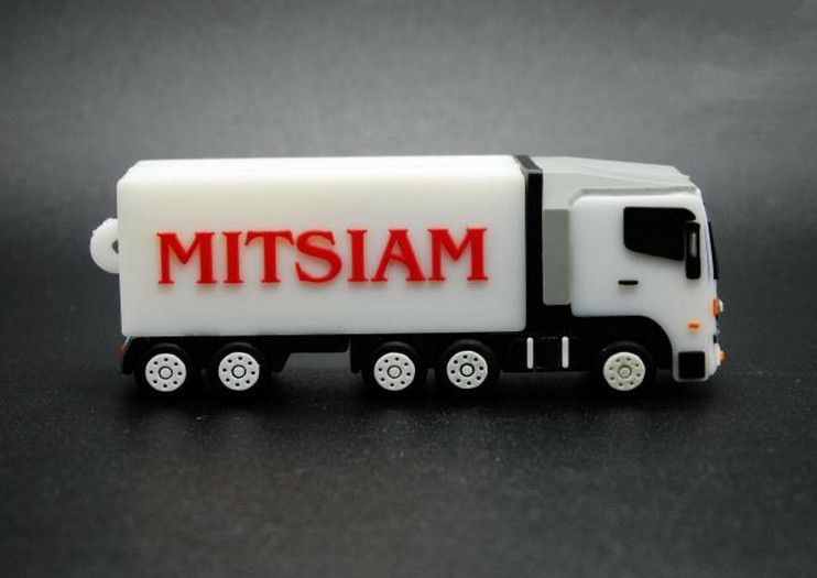 Practical Business Container/truck USB 1GB-64GB Flash Drive thumb pen drive u disk memory stick gift /souvenir S696(China (Mainland))