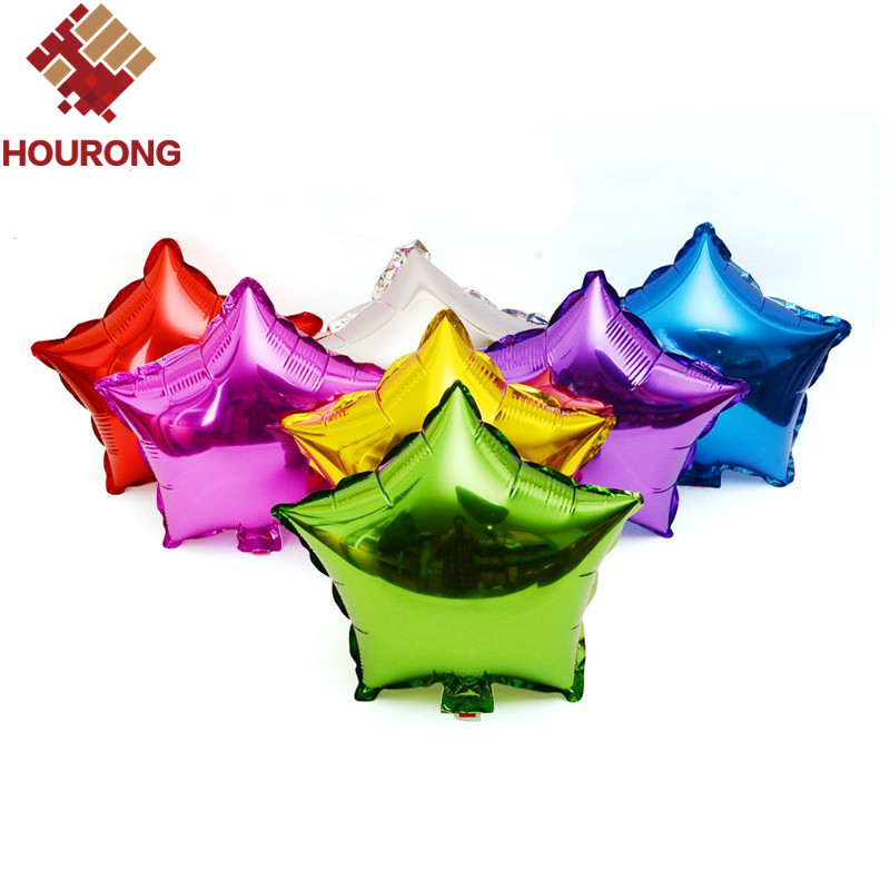 10pcs/Pack 25.5*30.2cm Foil Star Balloon 7 Colors To Choose Helium Metallic Birthday New Year party Wedding Decoration Balloon(China (Mainland))