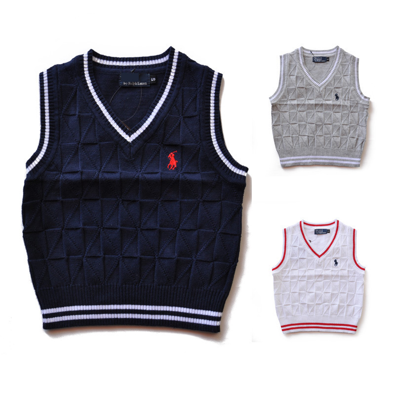 2015 Spring autumn kids sweater 100% cotton baby cardigan boy's V-neck sweater vest kids waistcoat vest boys sweaters for 2-6T(China (Mainland))