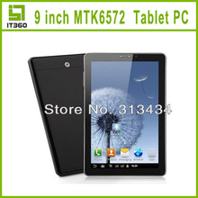 9 Inch Galaxy GPS Bluetooth Phablet Android 4.2 MTK6572 Dual Core 2G GSM Phone Call Dual Camera Tablet PC Free Leather Case