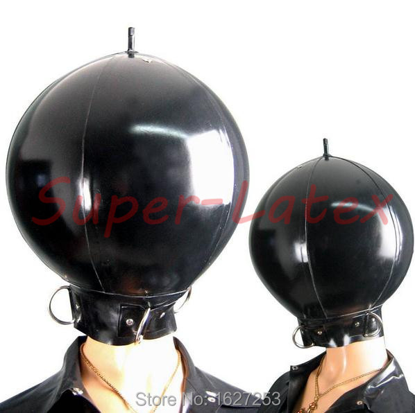 Latex costume inflatable latex ball hood latex cosplay new rubber mask inflatable hood