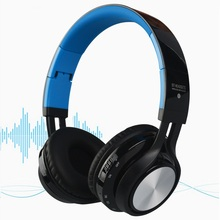 Wireless Bluetooth Headset Blue tooth Stereo Headphones with Microphone Support TF Card and AUX for iPhone 5S 6 6S Plus Xiaomi(Hong Kong)