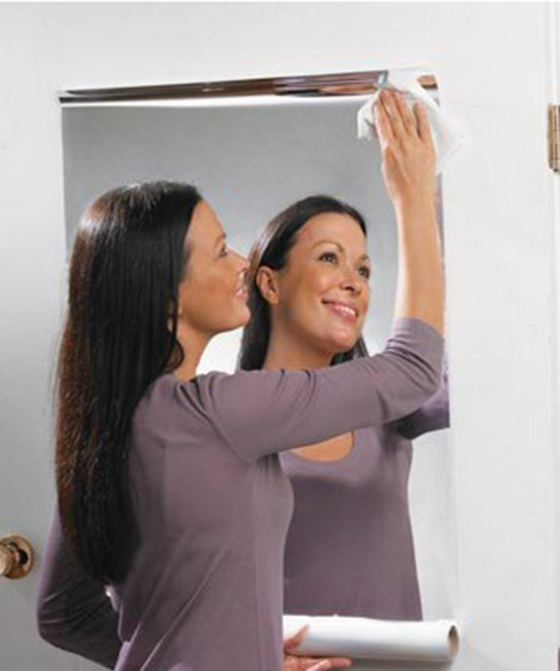 2016 brand new silver pvc reflective mirror film 60x100cm for Miroir 60 x 100