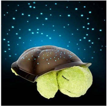 5 Colors Free shipping Musical Turtle Night Light Stars Constellation Lamp w/colorful box(China (Mainland))