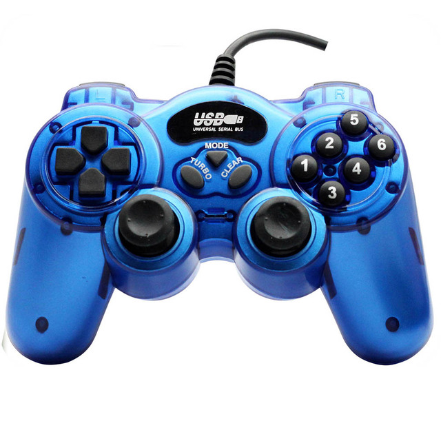 Real Pc Wired Usb Controller Joypad Game Pad Controler Joystick With Double ShockFor windows10 dw002 Free Shipping 1pc