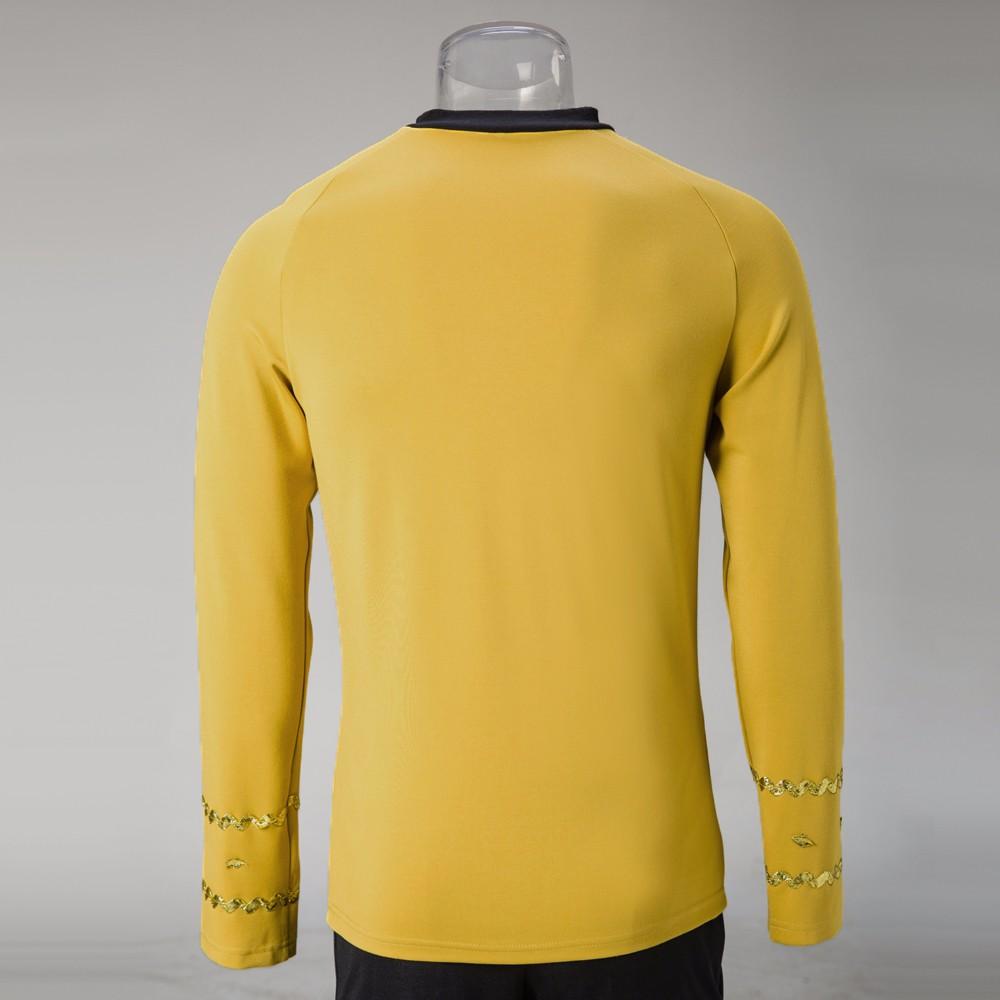 Cosplay Star Trek TOS The Original Series Kirk Shirt Uniform Costume Halloween Yellow Costume (3)