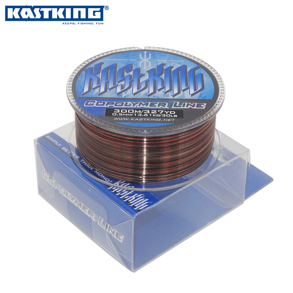 KastKing New High Quality Nylon Monofilament Fishing Line Colorful 300m 4.0-30LB Super Strong Copolyer Nylon Fishing Line(China (Mainland))