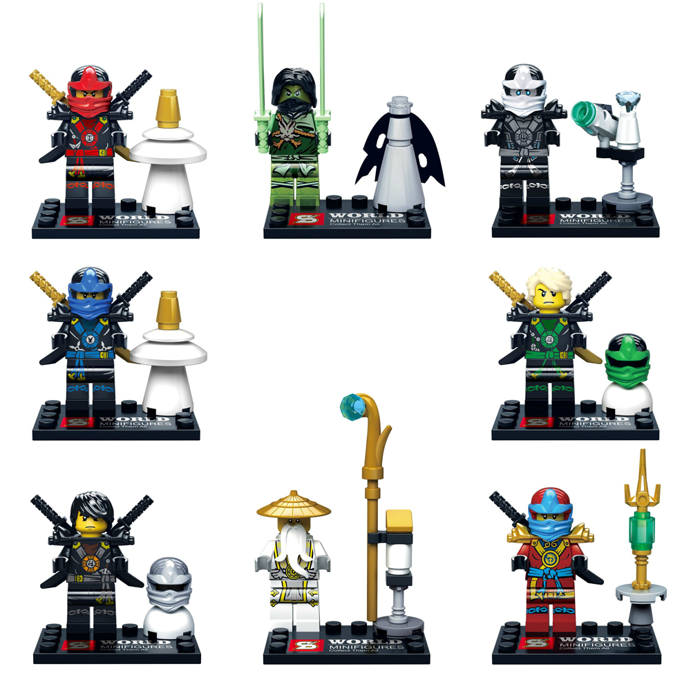 2016 NEW SY285 Ninja WU Kai Jay Cole Zane Weapon Building Blocks Compatible Legoes Ninjagoes Minifigures Bricks Toys - COASTLINE TOY store