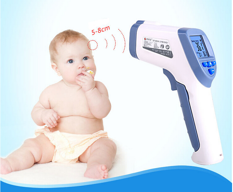 LCD Non-Contact IR Laser Gun Infrared Digital Thermometer Baby/Adult Body Thermometers Children Temperature Measurement Device(China (Mainland))
