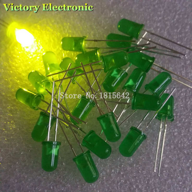 100 PCS/Lot 5MM Green LED Diode Round Diffused Green Color Light Lamp F5 DIP Highlight New Wholesale Electronic(China (Mainland))