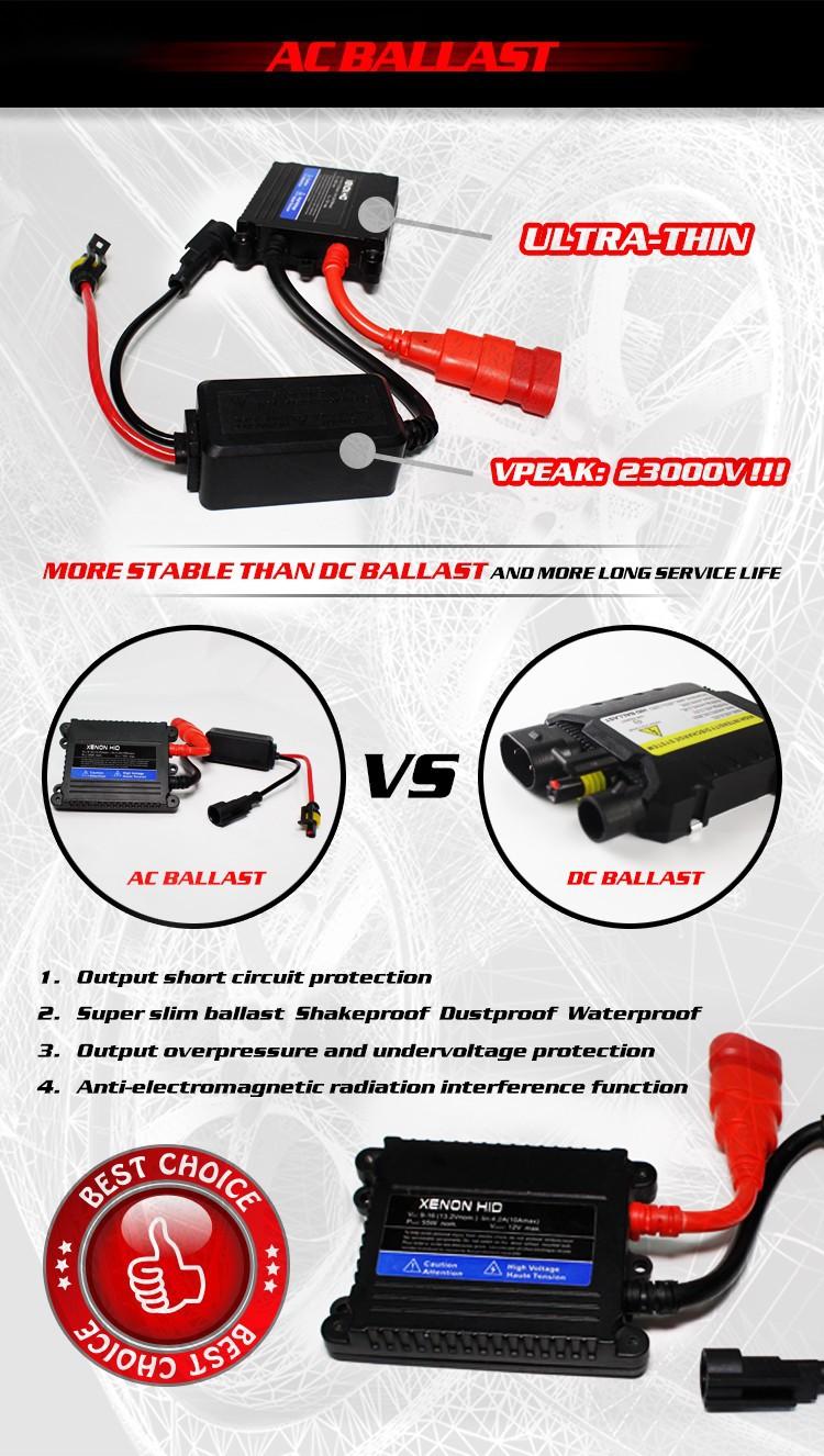 New 12V 35W AC Xenon HID Kit Slim Ballast H4/ H4-2 H13/H13-2 9004/9004-2 9007/9007-2 Yellow Purple Green Pink Blue Free Shipping