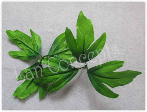 Free shipping Artificial Peony Leave for DIY Nylon Stocking Flower Decoration - 100pcs/lot LFA0031(China (Mainland))