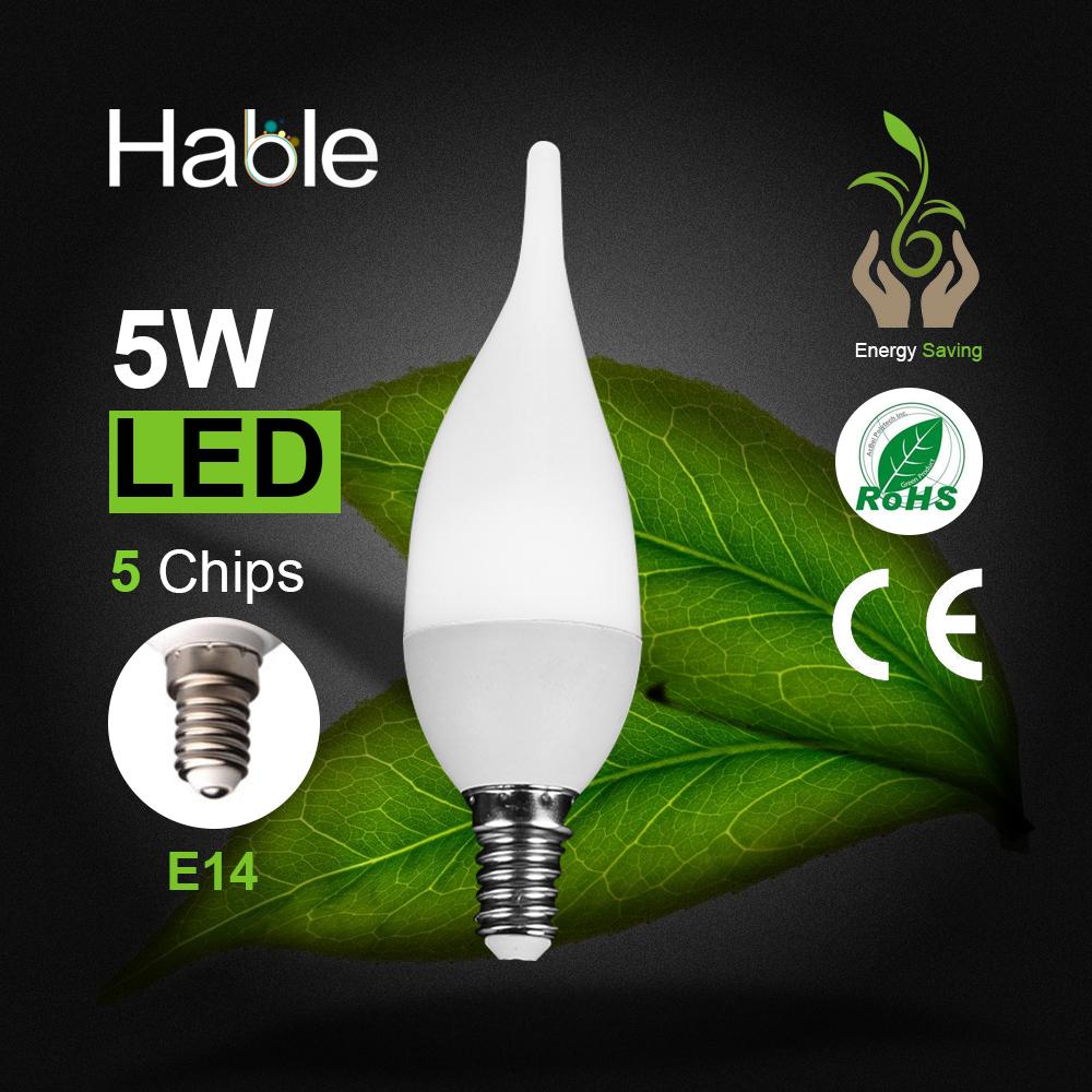 LED Candle Bulb 220V E27 E14 5W Energy Saving High Transmittance Plastic Shade Ceramic Spheres LED Lamp Light(China (Mainland))
