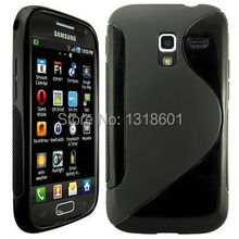 i8160 S-Line Soft TPU Silicone Matte Anit-Skid Protective Case For Samsung Galaxy Ace 2 I8160 Back Cover Mobile Phone Bags